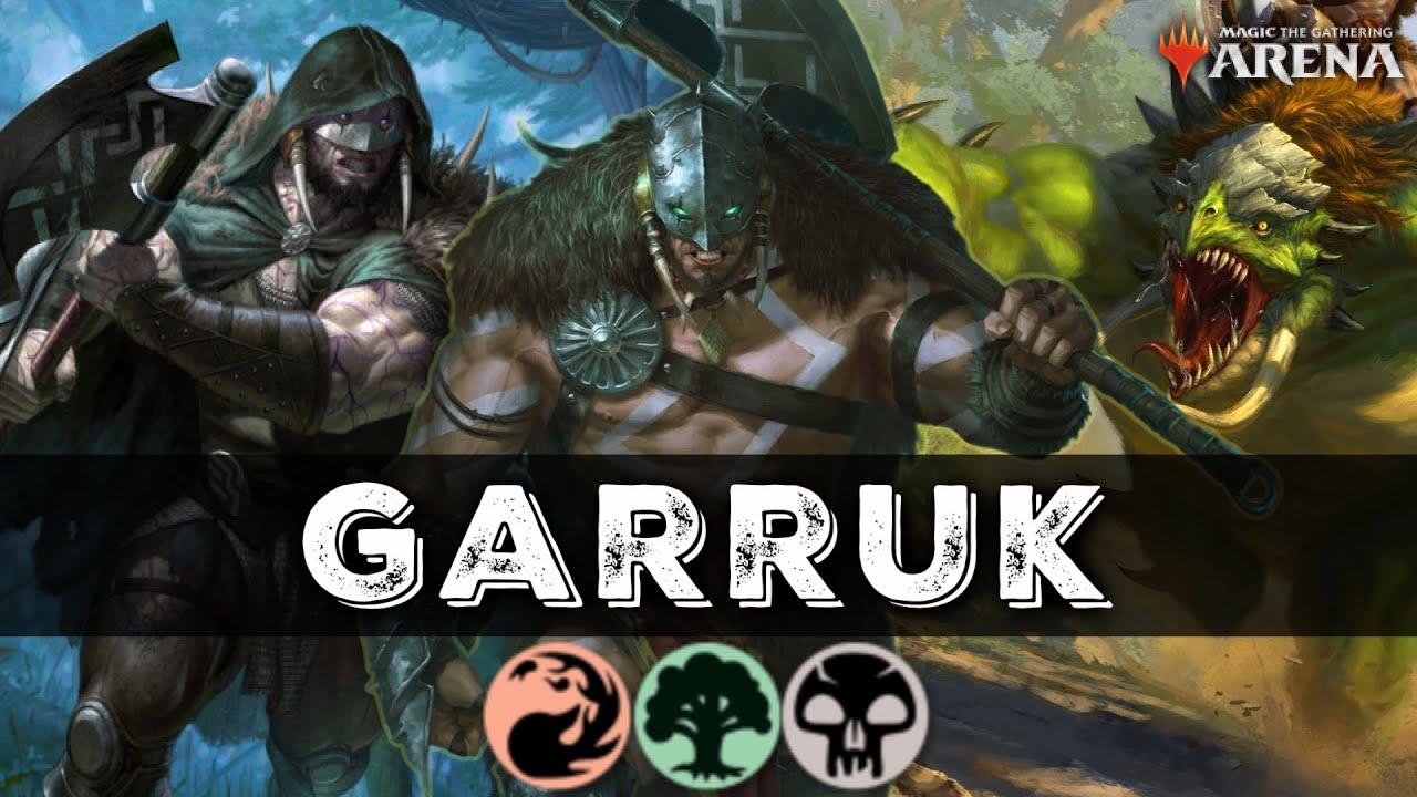 The GARRUK GROUP TRAMPLE TRIBAL Works WAY BETTER than it Should!!! | MTG Arena M21 Standard Deck