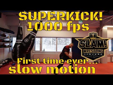Superkick 1000 Fps Slow Motion (Finisher Professional Wrestling)