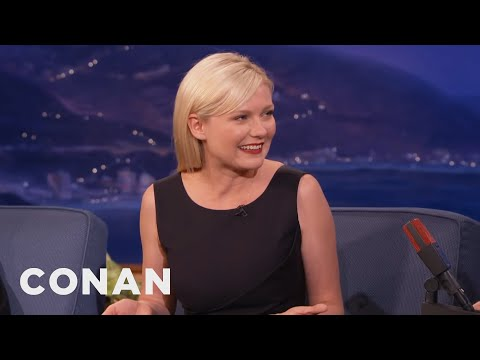 Kirsten Dunst's First Kiss Was Brad Pitt   CONAN on TBS