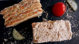 Быстрый пирог из рыбной консервы|Сытная закуска съедается на раз-два!