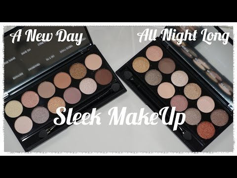 REVIEW: NEW Sleek Makeup A New Day & All Night Long eyeshadow palettes