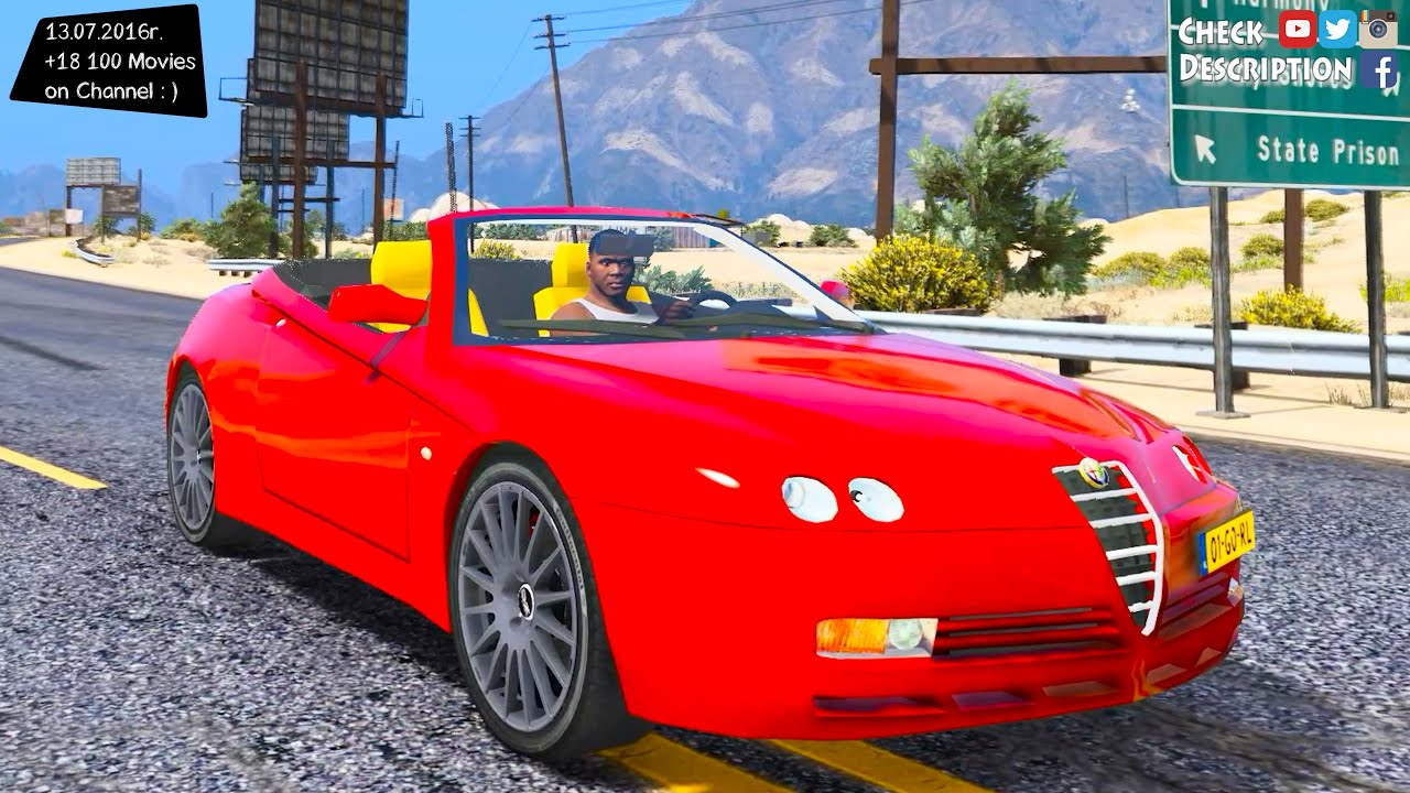 alfa romeo spider 916 gta v mod 2 7k 1440p youtube. Black Bedroom Furniture Sets. Home Design Ideas
