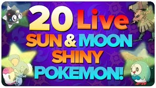 20 Live Shiny SUN & MOON Pokemon Reactions! Shiny Alolan Pokemon Montage / Compilation!