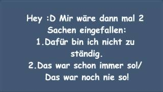 typische deutsche Sätze (Spacefrogs Videoantwort)