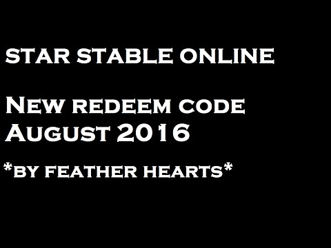 Star Stable - NEW REDEEM CODE \\ AUGUST 2016