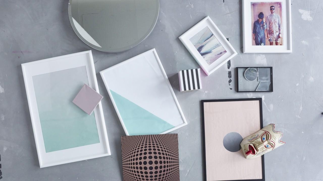 ikea bilder aufh ngen zeig deine kreative kollektion youtube. Black Bedroom Furniture Sets. Home Design Ideas