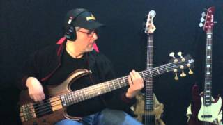 Another day in paradise by Phil Collins bass cover by Rino Conteduca with Ken Smith bass BSR5 BT