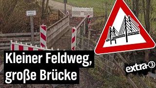 Realer Irrsinn: Die überdimensionierte Brücke von Reichertshausen