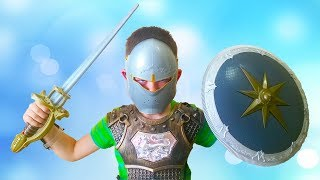 ДЕТСКИЕ РЫЦАРСКИЕ НАБОРЫ игрушки CHILDRENS KNIGHTS SETS toys unpacking