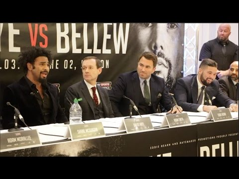PROPER HEAVYWEIGHT BEEF!! - DAVID HAYE v TONY BELLEW *FULL & UNCUT* HEATED PRESS CONFERENCE