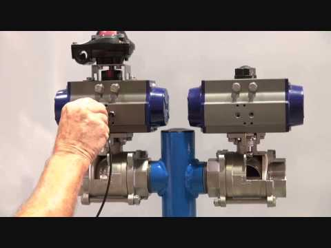 Double Acting amp Spring Return Pneumatic Actuators YouTube