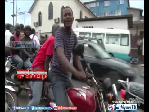 Motorcycles as Taxis in the Liberian capital Monrovia