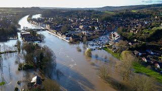 video: UK weather: Flooding evacuations under way as Rivers Severn and Aire breach banks