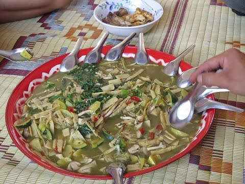 Laos Food,Bamboo shoot soup