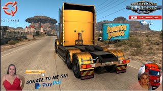"""American Truck Simulator (1.39)   Kenworth 908 Road to Radiator Springs v1.3 [1.39] From Disney Cars Movie Team Reforma Sierra Nevada 2.2.28[Best Map][1.39] Mega Resources 2.1.18 Viva Mexico 2.0.8 Legacy by Hugoces Mexico Extremo 2.1.17 Trailer Jazzycat Chevy Step Van Pack AI Traffic v1.0 and Municipal Police Traffic Pack v1.0 FMOD ON and Open Windows Next-Gen Graphics USA New Summer Graphics/Weather V1.1 (1.38) by Grimes Test Gameplay ITA + DLC's & Mods  For Donation and Support my Channel https://paypal.me/isabellavanelli?loc...  SCS Software News Iberian Peninsula Spain and Portugal Map DLC Planner...2020 https://www.youtube.com/watch?v=NtKeP... Euro Truck Simulator 2 Iveco S-Way 2020 https://www.youtube.com/watch?v=980Xd... Euro Truck Simulator 2 MAN TGX 2020 v0.5 by HBB Store https://www.youtube.com/watch?v=HTd79...  #TruckAtHome #covid19italia Euro Truck Simulator 2    Road to the Black Sea (DLC)    Beyond the Baltic Sea (DLC)   Vive la France (DLC)    Scandinavia (DLC)    Bella Italia (DLC)   Special Transport (DLC)   Cargo Bundle (DLC)   Vive la France (DLC)    Bella Italia (DLC)    Baltic Sea (DLC) Iberia (DLC)   American Truck Simulator New Mexico (DLC) Oregon (DLC) Washington (DLC) Utah (DLC) Idaho (DLC) Colorado (DLC)     I love you my friends Sexy truck driver test and gameplay ITA  Support me please thanks Support me economically at the mail vanelli.isabella@gmail.com  Roadhunter Trailers Heavy Cargo  http://roadhunter-z3d.de.tl/ SCS Software Merchandise E-Shop https://eshop.scssoft.com/  Euro Truck Simulator 2 http://store.steampowered.com/app/227... SCS software blog  http://blog.scssoft.com/  Specifiche hardware del mio PC: Intel I5 6600k 3,5ghz Dissipatore Cooler Master RR-TX3E  32GB DDR4 Memoria Kingston hyperX Fury MSI GeForce GTX 1660 ARMOR OC 6GB GDDR5 Asus Maximus VIII Ranger Gaming Cooler master Gx750 SanDisk SSD PLUS 240GB  HDD WD Blue 3.5"""" 64mb SATA III 1TB Corsair Mid Tower Atx Carbide Spec-03 Xbox 360 Controller Windows 10 pro 64bit"""