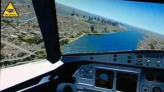 COCKPIT VIEW OF HUDSON RIVER FLIGHT | US Airways Airbus A320 Flight 1549 pilot