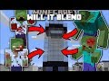 Minecraft WILL IT BLEND MOD / DEATH TO ZOMBIE APOCALYPSE!! Minecraft