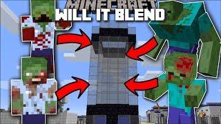 Minecraft WILL IT BLEND MOD / DEATH TO ZOMBIE APOCALYPSE!! Minecraft