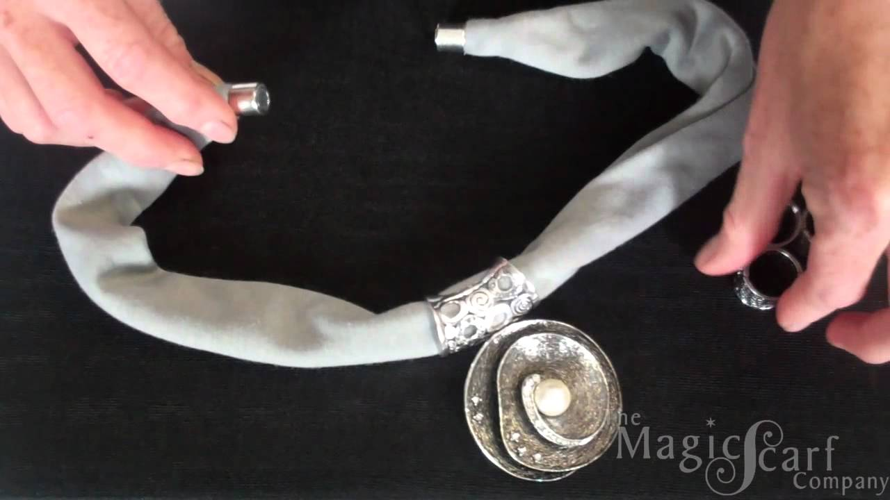Magnetic Clasp Magic Scarf - YouTube