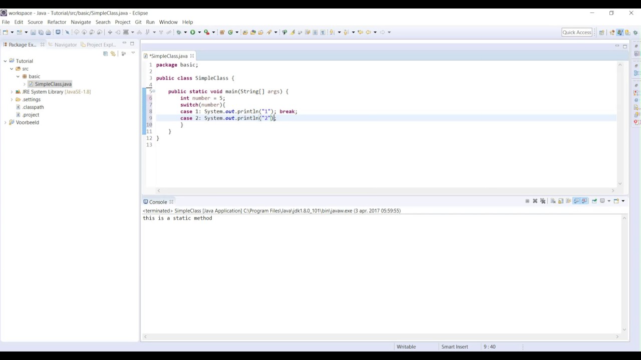 Java tutorial 5 how to make a switch case statement - Switch case java ...