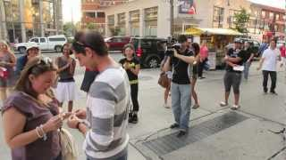 Surprise Marriage Proposal - A magician in Toronto helps make the magic happen
