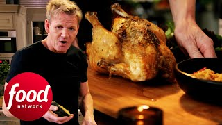 Gordon Ramsay & Daughter Prepare A Christmas Roast Chicken | Gordon Ramsay's Festive Home Cooking