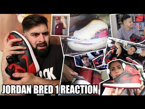 Reacting to OTHER YOUTUBERS Jordan 1 BRED Sneaker Reviews!!