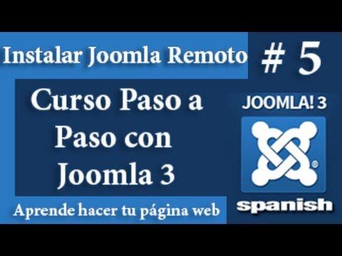 Instalación de Joomla en un Hosting