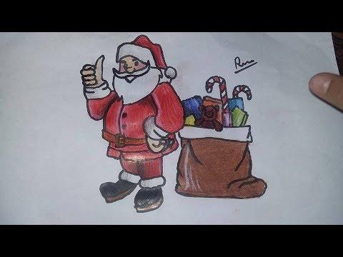 Cok Kolay Noel Baba Cizimi Youtube