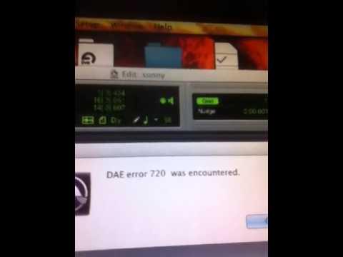 dae error 720 (how to fix) protools youtube