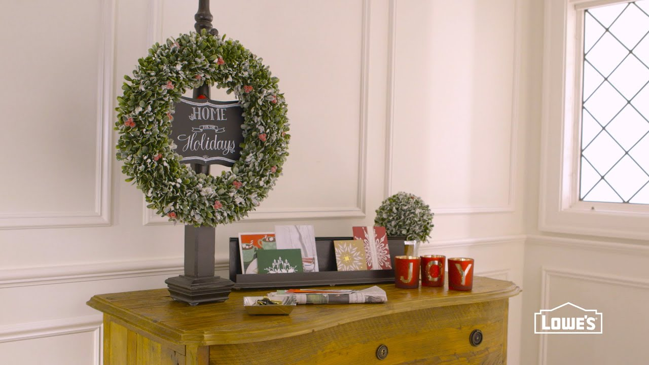 how to make a wreath stand youtube