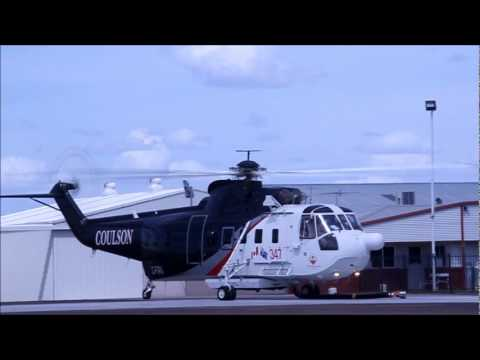 Sikorsky S-61 Coulson departs Hamilton, Vic Australia on Fire duty