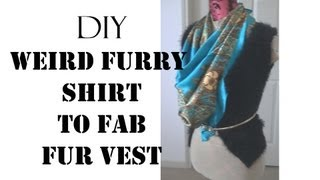 Diy Fab Faux Fur Vest - Sugarstilettosstyle