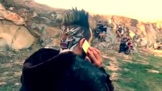 jazzy b on the set shikaar song ghaint hairstyle