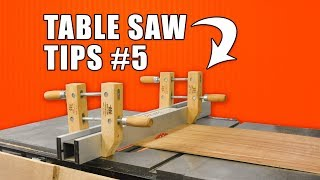 5 Quick Table Saw Tips Episode 5 / Woodworking Hacks