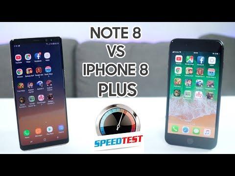 Speedtest iPhone 8 Plus vs Galaxy Note 8: Ông vua hiệu năng 2017 thuộc về....