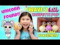 UNICORN FOUND  WAVE 2 LOL SURPRISE CONFETTI POP SERIES 3 Ball Placement Gold Hack Full Case Unboxing