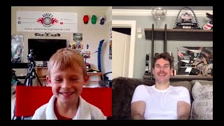 7-year-old Asher interviews INDYCAR Team Penske driver, Will Power via Skype