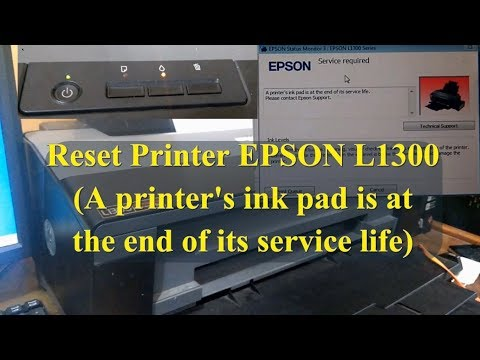 Cara Reset Printer EPSON L1300 [ A Printer's Ink Pad Is At The End Of Its Service Life ]