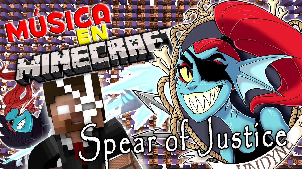 spear justice undertale canciones en minecraft noteblock song tutorial youtube