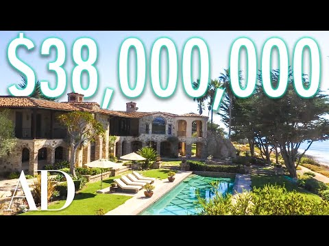 Inside a $38M Oceanside Mansion With A Private Beach | On The Market | Architectural Digest