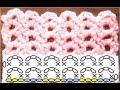 かぎ針編みの模様編み 4 鎖編みの簡単な模様の編み方 How to Crochet