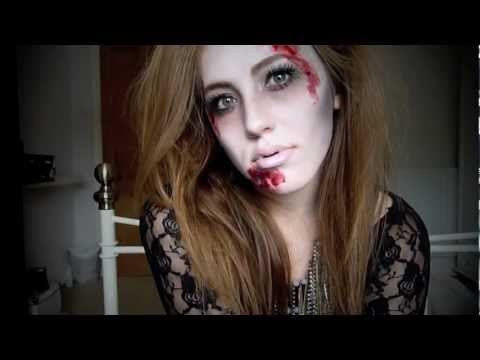 Glamorous Zombie - A Halloween Tutorial U2605 - YouTube