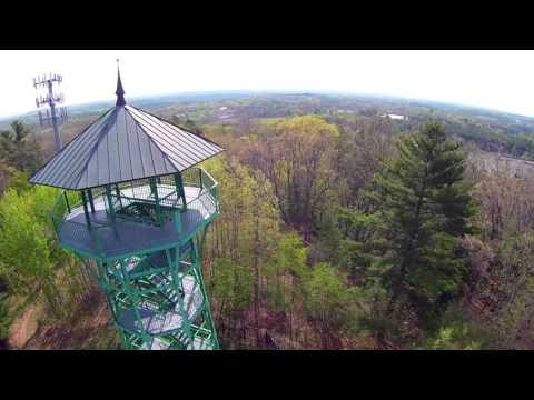 Garrison HIll Park, Dover, New Hampshire Aerial Video - America 'Ventura Highway'