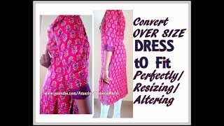 How to Alter Over-sized Garment / Resizing / to fit perfectly - SIMPLE TIPS / DIY / Loose to FIT - 1 thumbnail