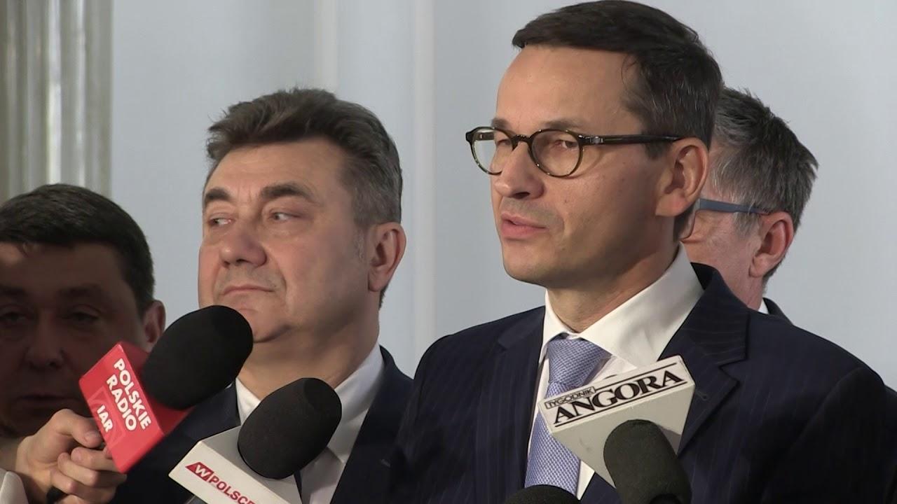 M. Morawiecki, K. Tchórzewski, G. Tobiszowski – Briefing prasowy w Sejmie