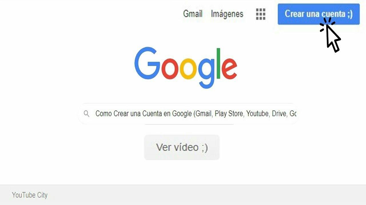 Como Crear Una Cuenta En Google Gmail Play Store