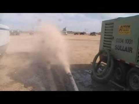 sand discharge