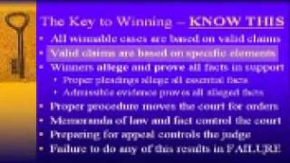 What It Takes To Win In Court