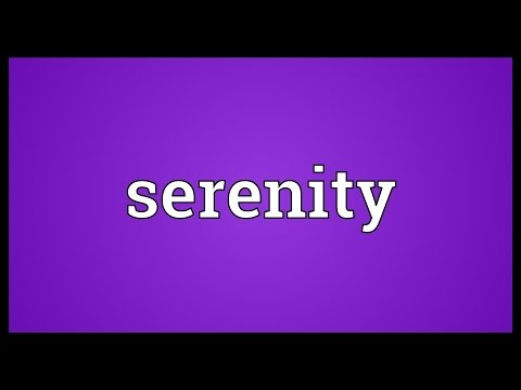 Serenity meaning
